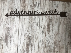 Adventure Awaits Metal Wall Art