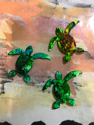 Metal Turtle Magnet