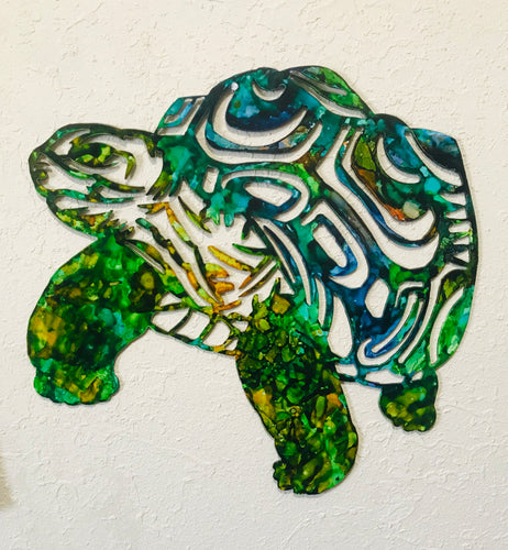 Tortoise Metal Art - Turtle Metal Art