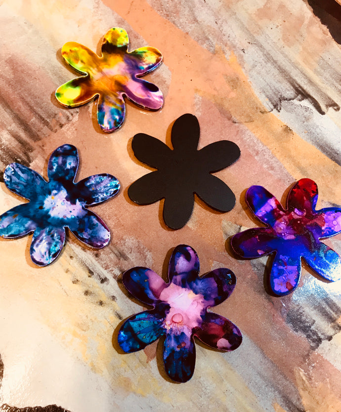 Metal Flower Magnet-design 1