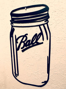 Ball Jar-- Metal Wall Art home decor