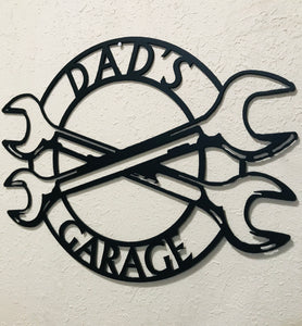 Dad's Garage  - Metal Garage Art