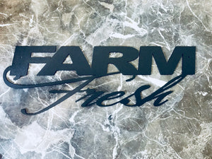 Farm Fresh -- Metal Wall Art home decor