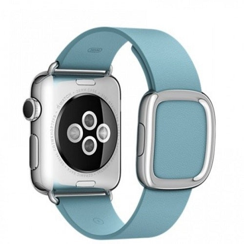 Apple Watch Series 1 38mm Stainless Steel Case with Blue Jay Modern Buckle