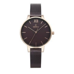 Obaku LIV Walnut Brown Dial Watch For Women