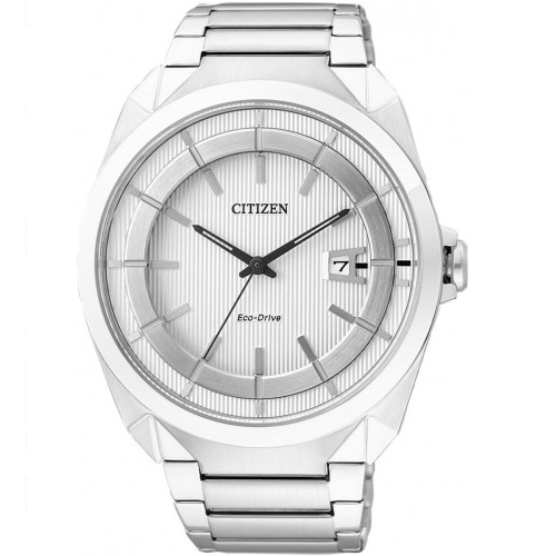 Citizen Eco-Drive White Steel Dress Watch