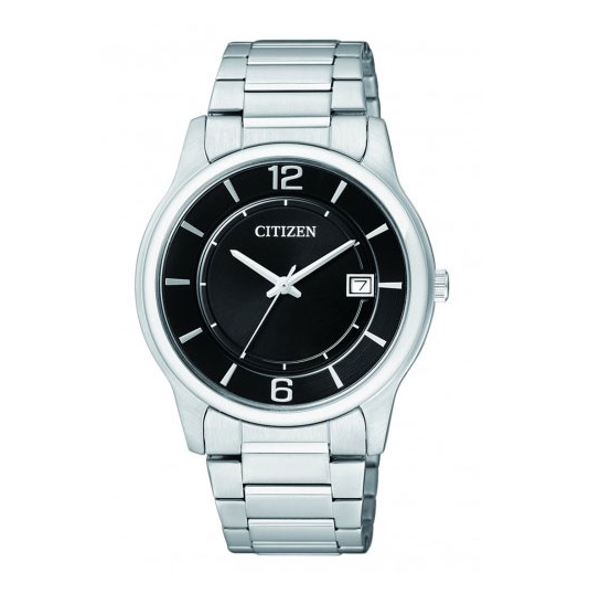 Stainless Steel Black Dial Citizen Men's Watch