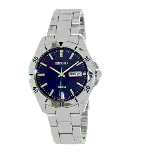 Seiko Men Quartz Analogue Stainless Steel Bracelet Watch