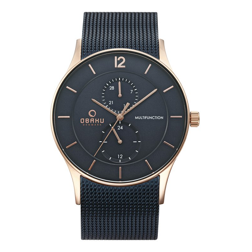 ROSE GOLD CASE OBAKU MEN'S WATCH