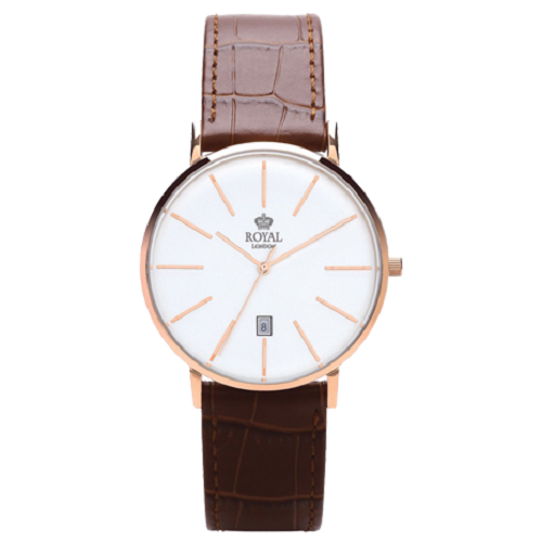 Royal London Classic Brown Leather Ladies Quartz Watch