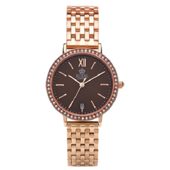 Royal London Ladies Stainless Steel Brown Dial Analog Watch