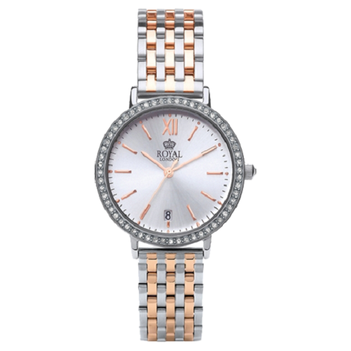 Royal London Fashion Crystals Stainless Steel Bracelet Watch