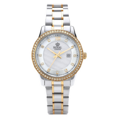 Royal London Ladies Modern Two Tone White Dial Watch