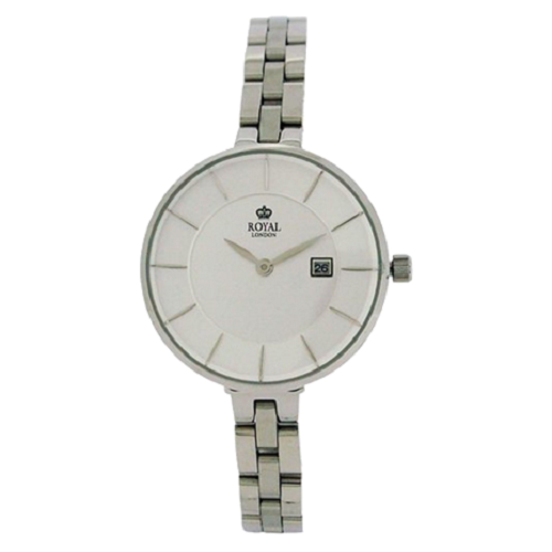 Royal London Silver Dial Date Stainless Steel Bracelet Strap Watch