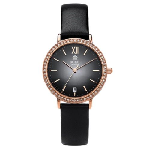 Royal London Ladies Classic Black Leather Watch