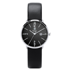 Royal London Fashion Black Leather Strap Black Dial Watch