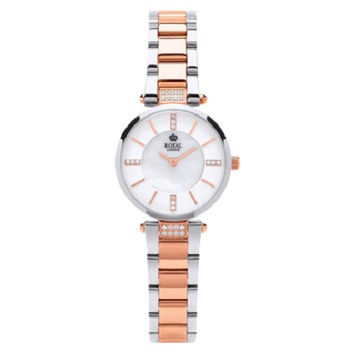 Royal London Ladies Mother Of Pearl Leather Strap Watch