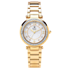 Royal London Classic Gold Plated Off White Dial Ladies Watch