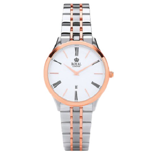 Royal London Ladies Classic Silver Rose Gold Merton Watch