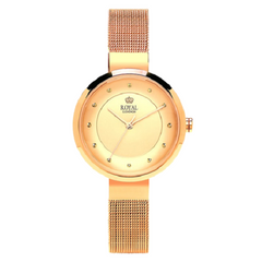 Royal London Stylish Bracelet Golden Dial Unique Watch