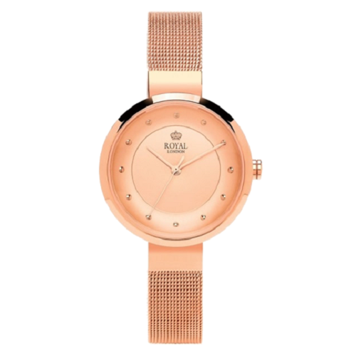 Royal London Ladies Pink Gold Steel Plated Watch