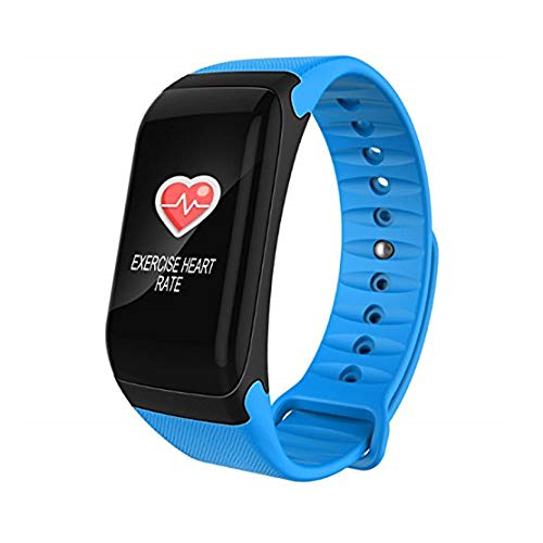 F1 PLUS BLUE BLOOD PRESSURE  FITNESS BRACELET HEART RATE MONITOR