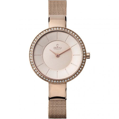 Rose Gold Ladies Obaku Watch
