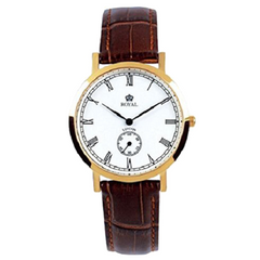 Royal London Men's Classic Gold Brown White Dial Watch