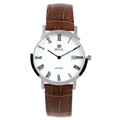 Royal London Men's Classic Brown Bracelet And White Dial Watch