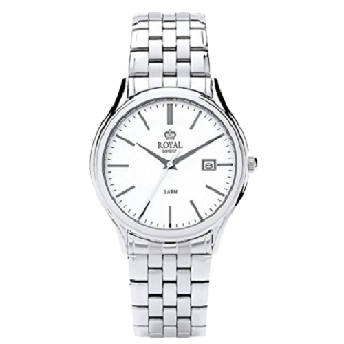 Royal London Wrist Gents Classic Stainless Steel Silver Strap Watch