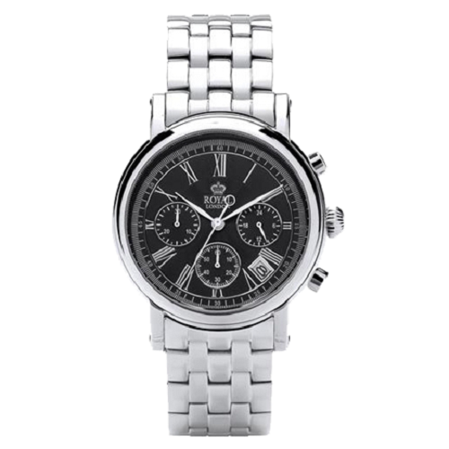 Royal London Men's Chronograph Stainless Steel Black Dial Watch