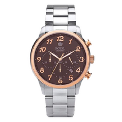 Royal London Men's Chronograph Wrist Brown Dial Watch
