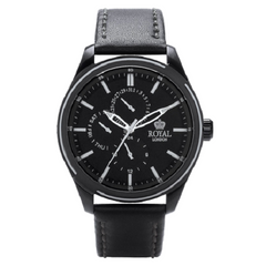 Royal London Multi-Function Men's Leather Strap Watch