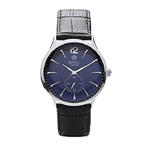 Royal London Gents Classic Stainless Black Dial Watch