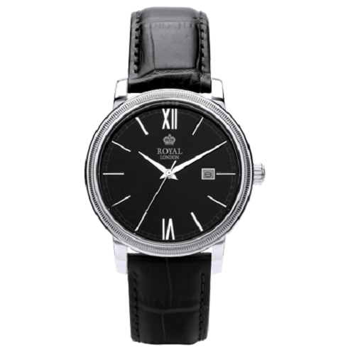 Royal London Merton Men's Classic Stainless Black Dial Watch