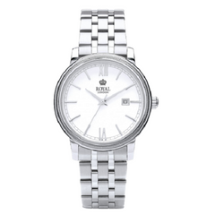 Royal London Gents Classic Stainless Steel White Dial Watch