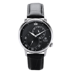 Royal London Men's Stainless Steel Leather Strap Watch