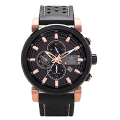 Royal London Gents Sport Multi-Function Leather Strap Watch