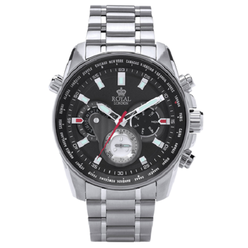 Royal London Gents Sports Multi-Function Stainless Steel Watch