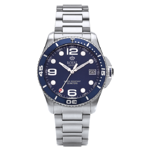 Royal London Stainless Steel Bracelet Gents Sports Watch