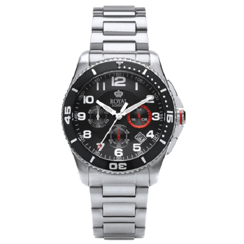 Royal London Gents Sport Chronograph Metal Bracelet Watch