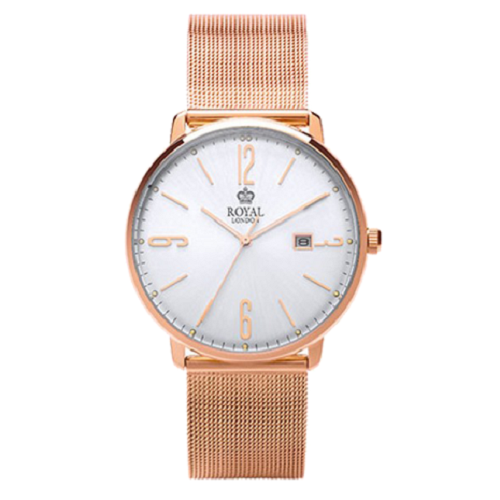 Royal London Fashion Rose Gold Stainless Steel Bracelet Gents Watch