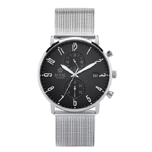 Royal London Fashion Dual Time Stainless Steel Gents Watch