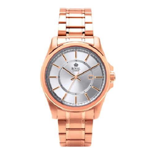 Royal London Dress Rose Gold Stainless Steel Gents Watch