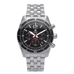 Royal London Stainless Steel Black Dial Gents Watch