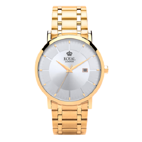 Royal London Classic Gold Stainless Steel Bracelet Gents Watch