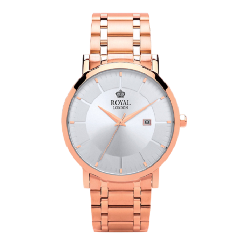 Royal London Classic Gents Rose Gold Steel Watch