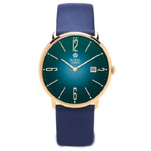 Royal London Blue Dial & Leather Strap Men's Watch