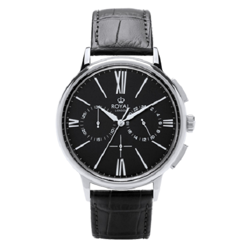 Royal London Men's Chronograph Genuine Leather Strap Watch