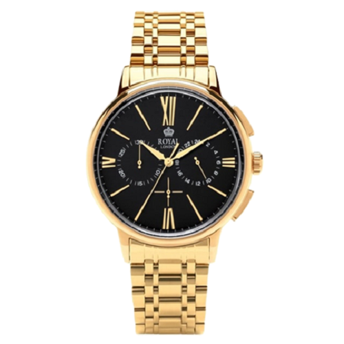 Royal London Chronograph Steel Gold Plated Watch